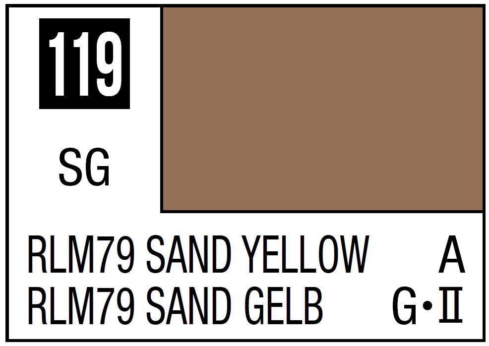 Mr Hobby Mr. Color 119 - RLM76 Sand Yellow (Semi-Gloss/Aircraft) - 10ml