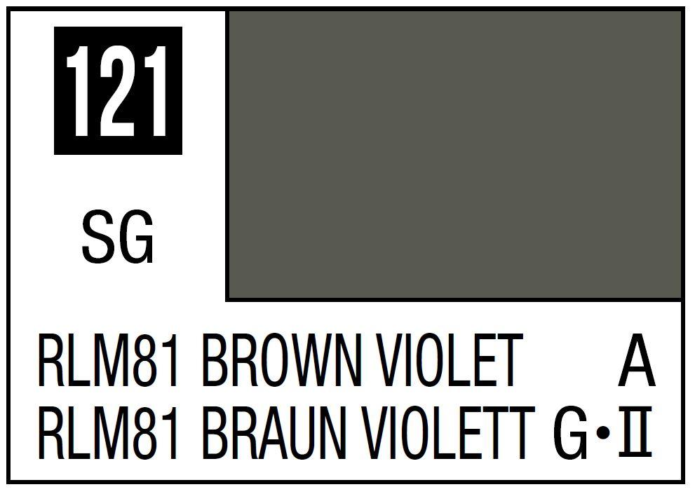 Mr Hobby Mr. Color 121 - RLM81 Brown Violet (Semi-Gloss/Aircraft) - 10ml