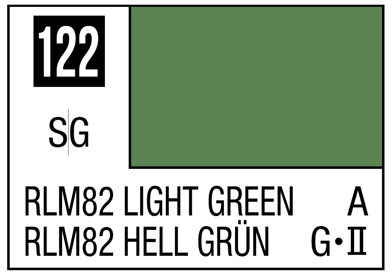 Mr Hobby Mr. Color 122 RLM82 Light Green (Semi-Gloss) - 10ml