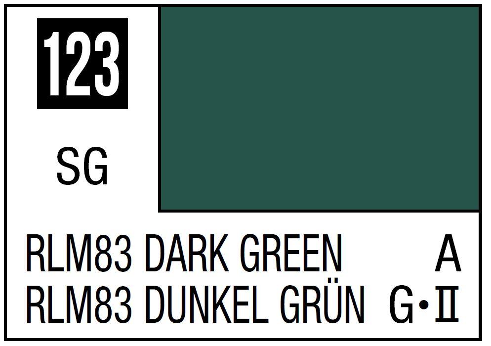 Mr Hobby Mr. Color 123 - RLM83 Dark Green (Semi-Gloss/Aircraft) - 10ml