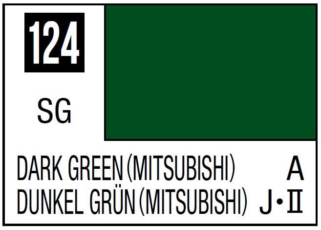 Mr Hobby Mr. Color 124 - Dark Green (Mitsubishi) (Semi-Gloss/Aircraft) - 10ml