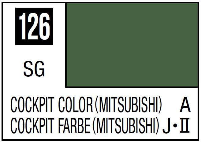 Mr Hobby Mr. Color 126 - Cockpit Color (Semi-Gloss/Aircraft) - 10ml