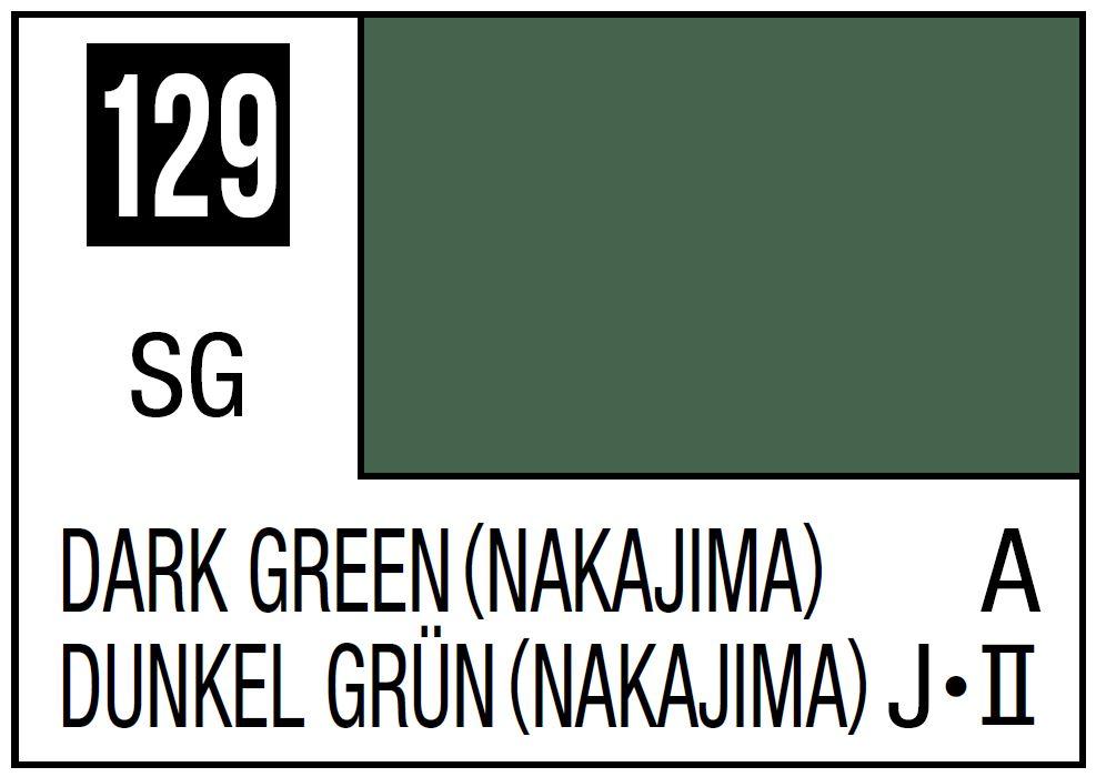 Mr Hobby Mr. Color 129 - Dark Green (Nakajima) - 10ml (Semi-Gloss/Aircraft) - 10ml