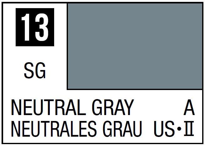 Mr Hobby Mr. Color 13 - Neutral Gray (Semi-Gloss/Aircraft) - 10ml