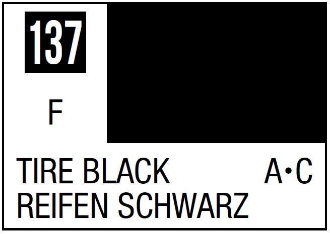 Mr Hobby Mr. Color 137 - Tire Black (Flat/Aircraft Car) - 10ml