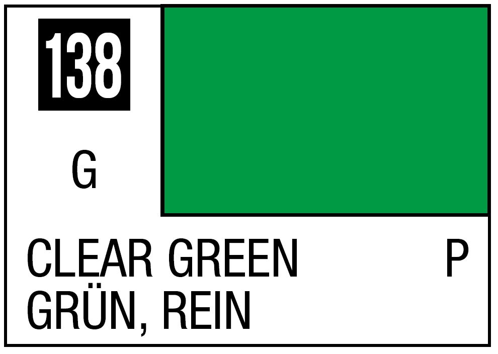 Mr Hobby Mr. Color 138 - Clear Green (Gloss/Primary) - 10ml