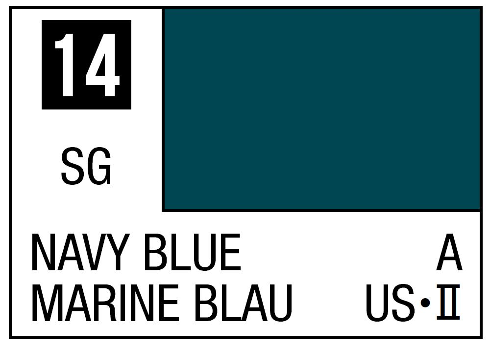 Mr Hobby Mr. Color 14 - Navi Blue (Semi-Gloss/Aircraft) - 10ml