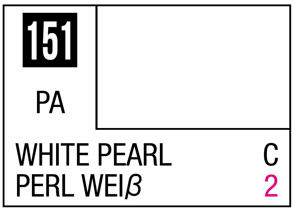 Mr Hobby Mr. Color 151 - White Pearl (Pearl/Car) - 10ml