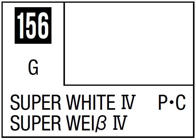 Mr Hobby Mr. Color 156 - Super White Iv (Gloss/Primary Car) - 10ml