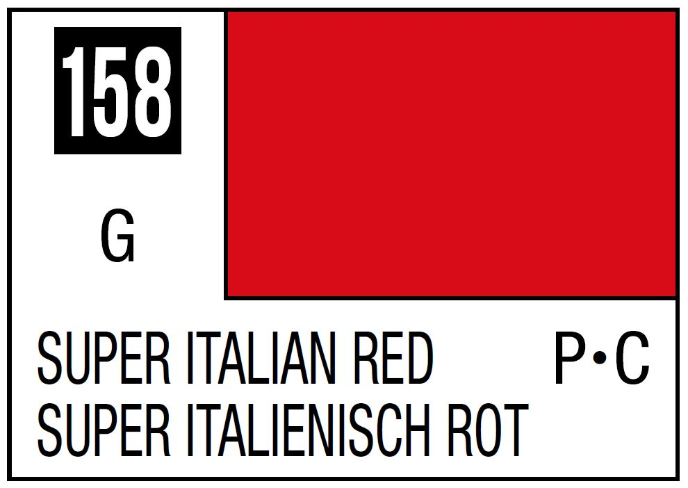 Mr Hobby Mr. Color 158 - Super Italian Red (Gloss/Primary Car) - 10ml
