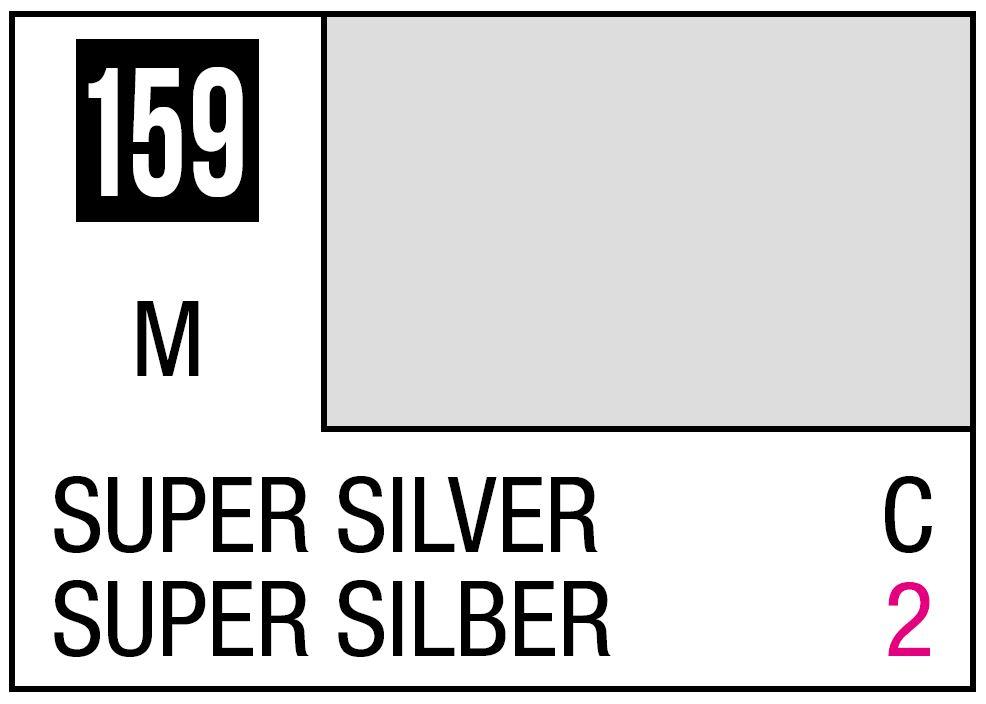 Mr Hobby Mr. Color 159 - Super Silver (Metallic/Car) - 10ml
