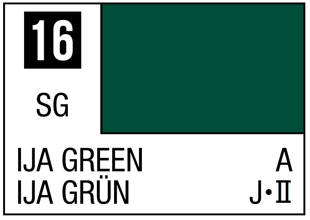 Mr Hobby Mr. Color 16 - IJA Green (Semi-Gloss/Aircraft) - 10ml