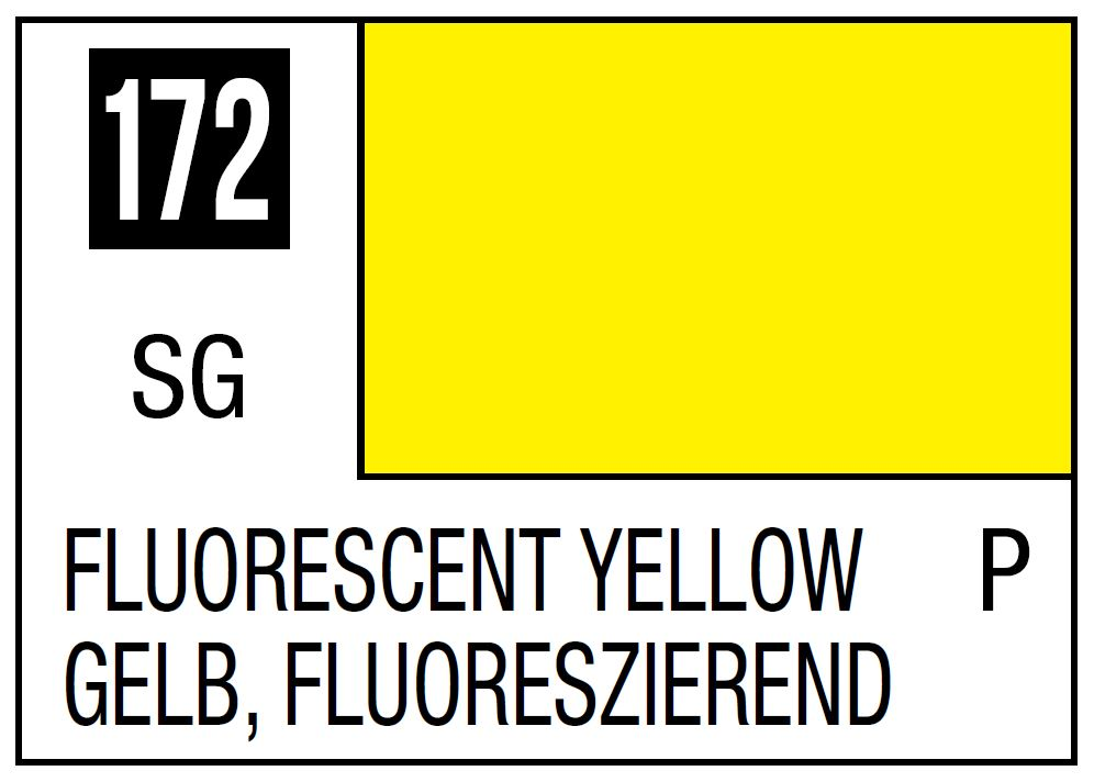 Mr Hobby Mr. Color 172 - Semi Gloss Fluorescent Yellow - 10ml