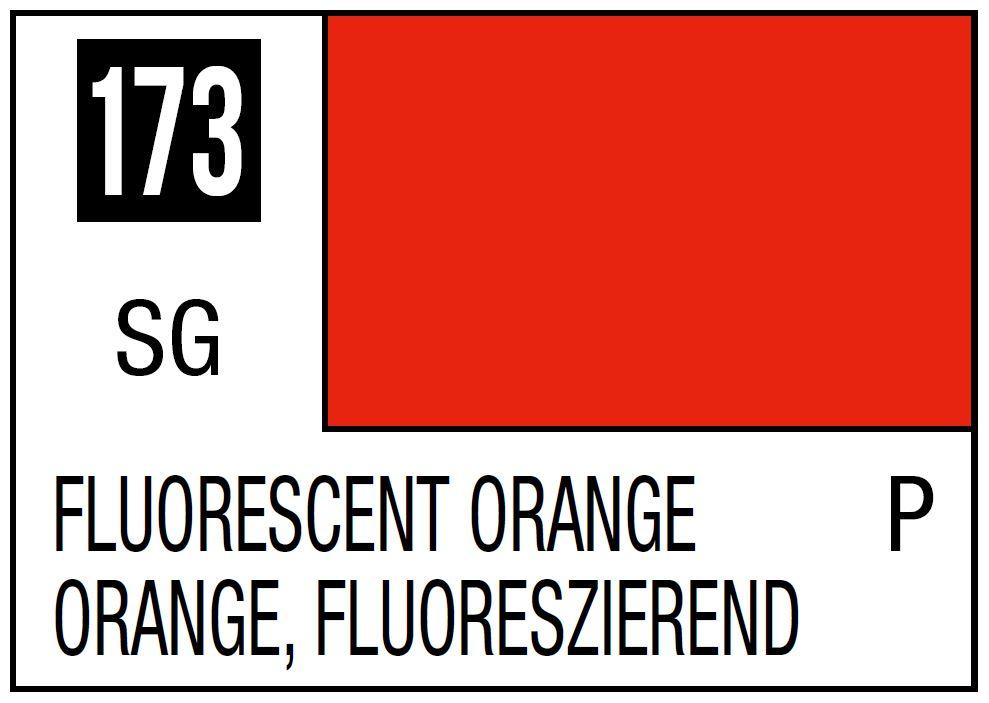 Mr Hobby Mr. Color 173 - Fluorescent Orange (Gloss/Primary) - 10ml