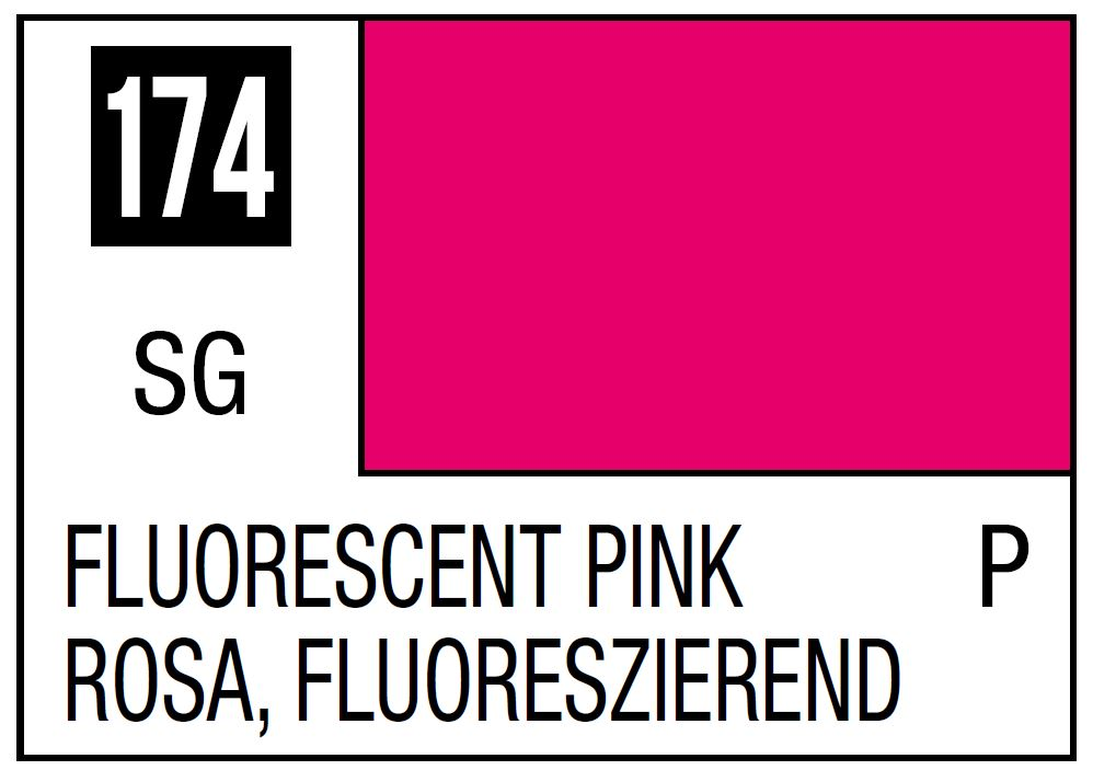 Mr Hobby Mr. Color 174 - Fluorescent Pink (Gloss/Primary) - 10ml