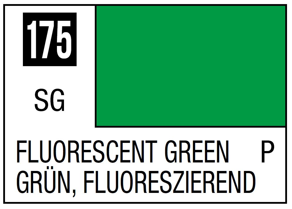 Mr Hobby Mr. Color 175 - Fluorescent Green (Gloss/Primary) - 10ml
