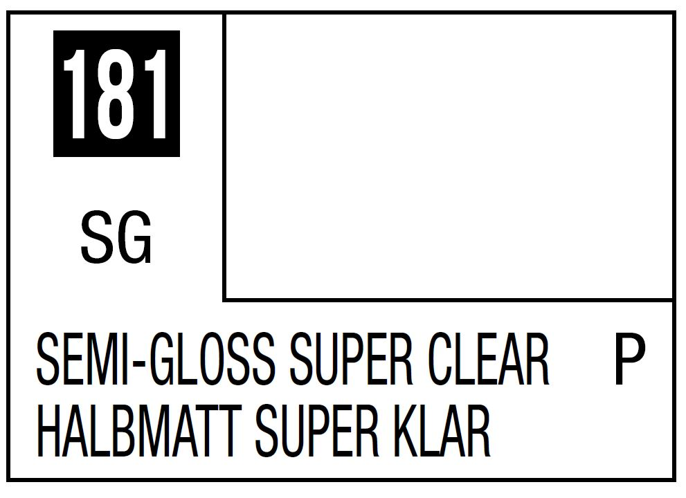 Mr Hobby Mr. Color 181 - Semi-Gloss Super Clear (Semi-Gloss/Primary) - 10ml