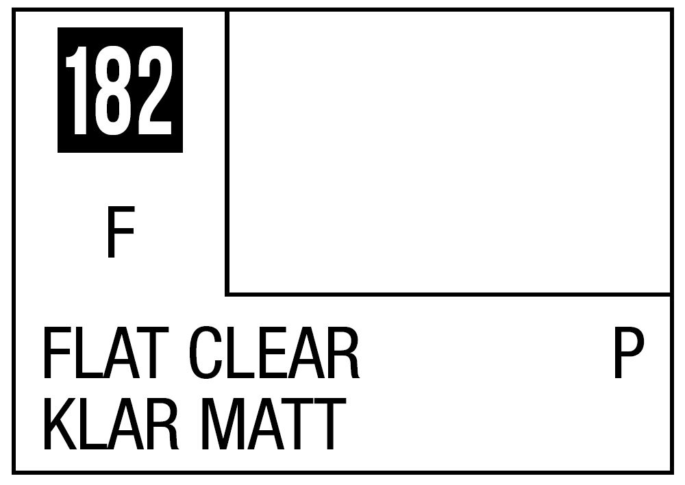 Mr Hobby Mr. Color 182 - Flat Clear (Flat/Primary) - 10ml