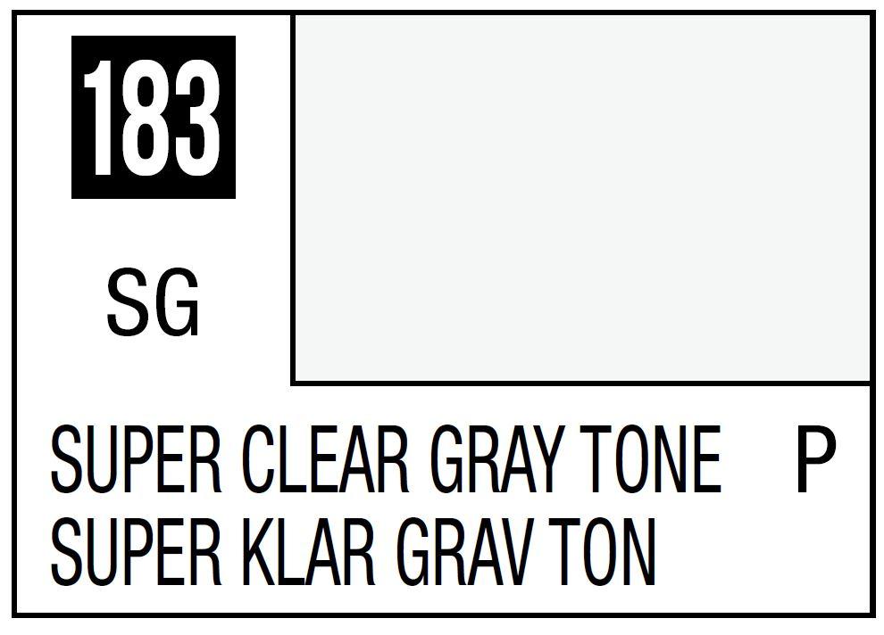 Mr Hobby Mr. Color 183 - Super Clear Gray Tone (Semi-Gloss/Primary) - 10ml
