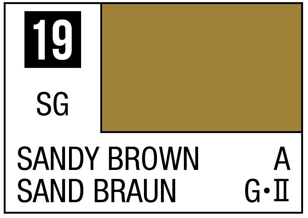 Mr Hobby Mr. Color 19 - Sandy Brown (Semi-Gloss/Aircraft) - 10ml