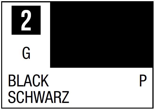 Mr Hobby Mr. Color 2 - Black (Gloss/Primary) - 10ml