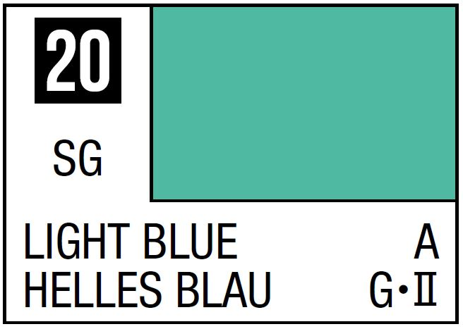 Mr Hobby Mr. Color 20 - Light Blue (Semi-Gloss/Aircraft) - 10ml