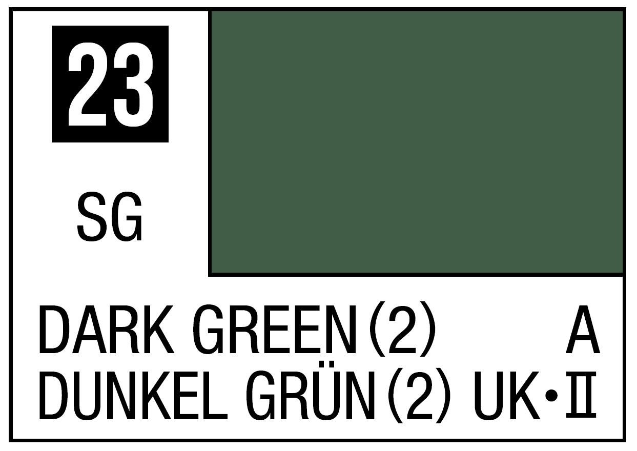 Mr Hobby Mr. Color 23 Semi-Gloss Dark Green (Semi-Gloss) - 10ml