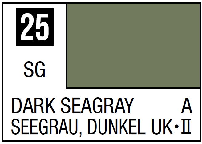 Mr Hobby Mr. Color 25 Dark Seagray (Semi-Gloss/Aircraft) - 10ml