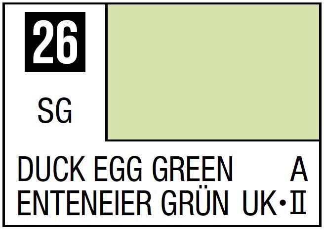 Mr Hobby Mr. Color 26 - Duck Egg Green (Semi-Gloss/Aircraft) - 10ml