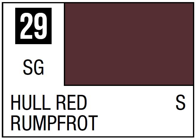 Mr Hobby Mr. Color 29 Hull Red (Semi-Gloss/Ship) - 10ml