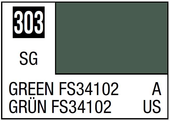 Mr Hobby Mr. Color 303 - Green FS34102 (Semi-Gloss/Aircraft) - 10ml