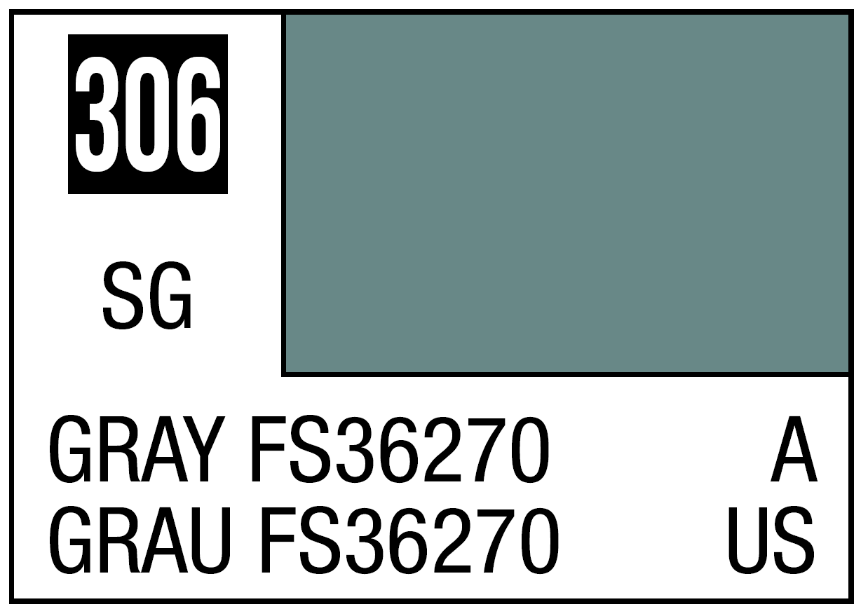 Mr Hobby Mr. Color 306 Gray FS36270 (Semi-Gloss) - 10ml