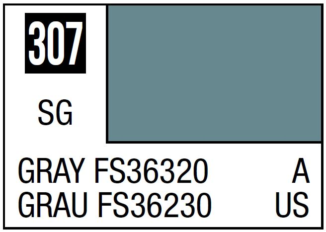 Mr Hobby Mr. Color 307 Gray FS36320 (Semi-Gloss/Aircraft) - 10ml
