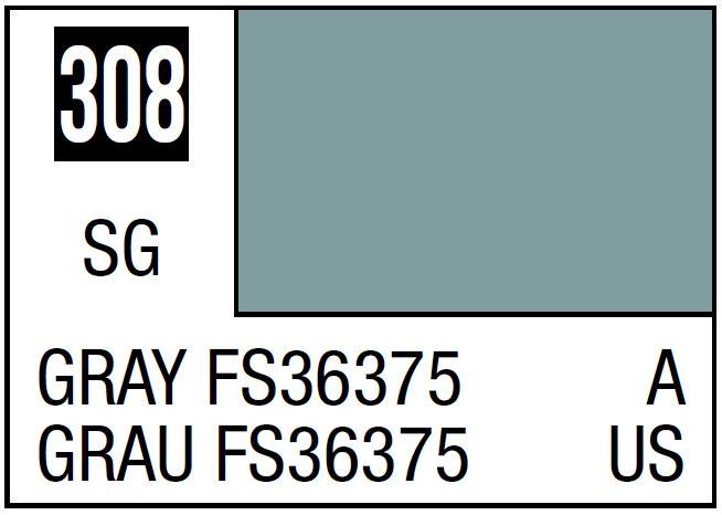 Mr Hobby Mr. Color 308 Gray FS36375 (Semi-Gloss/Aircraft) - 10ml