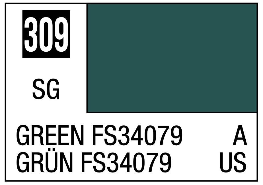 Mr Hobby Mr. Color 309 - Green FS34079 (Semi-Gloss) - 10ml