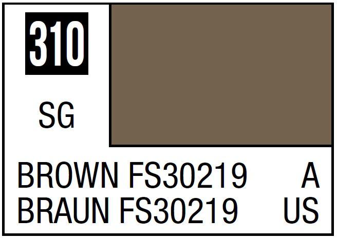 Mr Hobby Mr. Color 310 - Brown FS30219 (Semi-Gloss/Aircraft) - 10ml