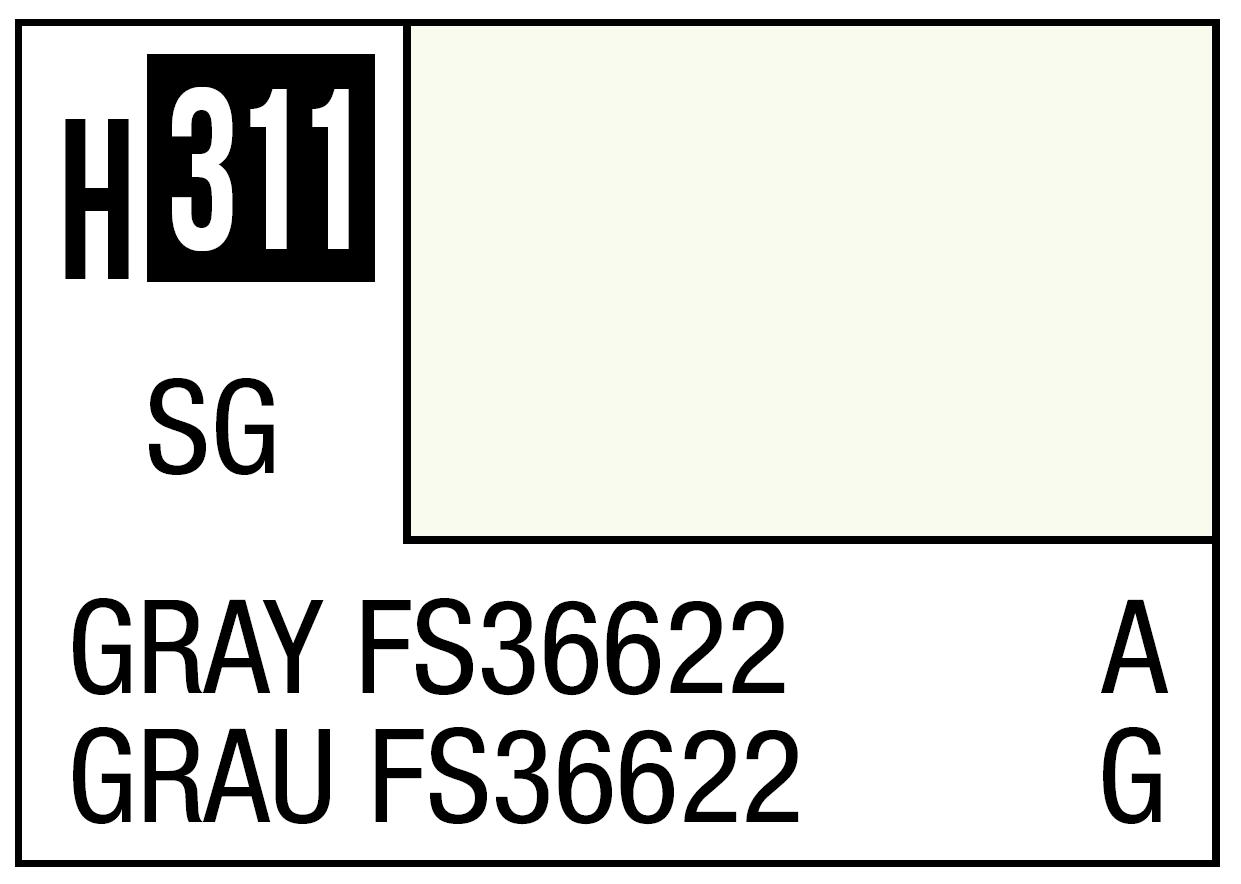 Mr Hobby Mr. Color 311 Gray FS36622 (Semi-Gloss) - 10ml