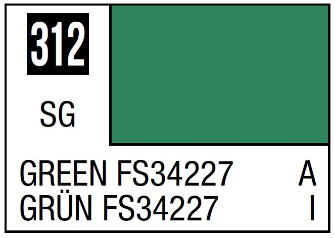 Mr Hobby Mr. Color 312 Green FS34227 (Semi-Gloss/Aircraft) - 10ml