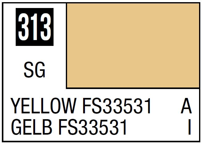Mr Hobby Mr. Color 313 Yellow FS33531 (Semi-Gloss/Aircraft) - 10ml