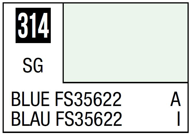 Mr Hobby Mr. Color 314 Blue FS35622 (Semi-Gloss/Aircraft) - 10ml