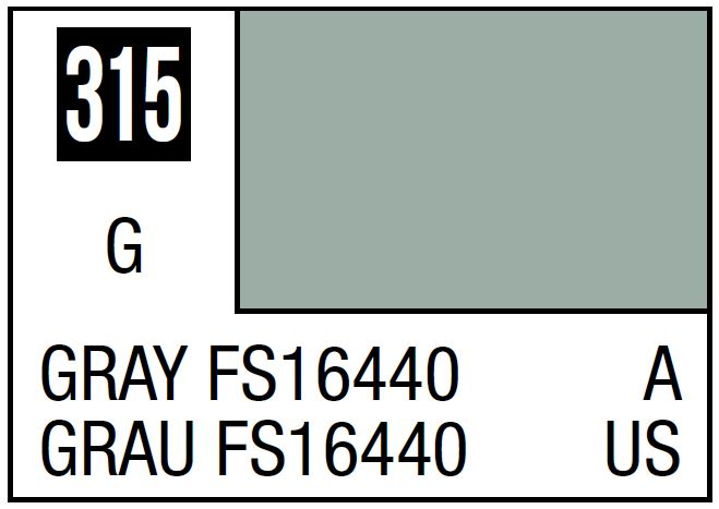 Mr Hobby Mr. Color 315 Gray FS16440 (Semi-Gloss/Aircraft) - 10ml