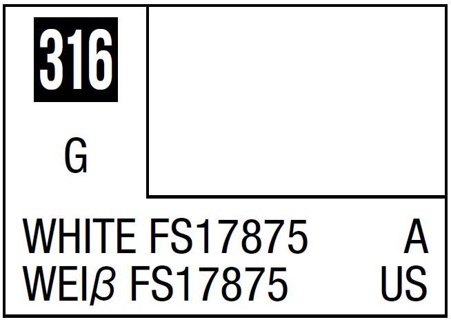 Mr Hobby Mr. Color 316 White FS17875 (Gloss/Aircraft) - 10ml