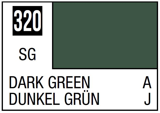 Mr Hobby Mr. Color 320 Dark Green (Semi-Gloss/Aircraft) - 10ml