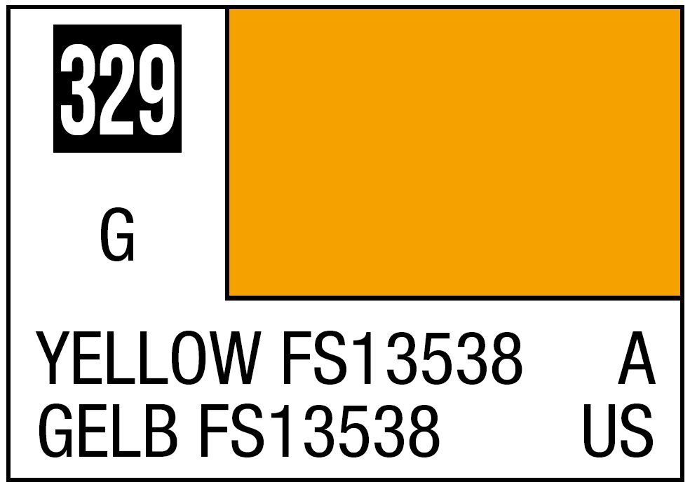 Mr Hobby Mr. Color 329 Yellow FS13538 (Gloss/Aircraft) - 10ml