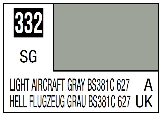 Mr Hobby Mr. Color 332 - Light Aircraft Gray Bs381C 627 (Semi-Gloss/Aircraft) - 10ml