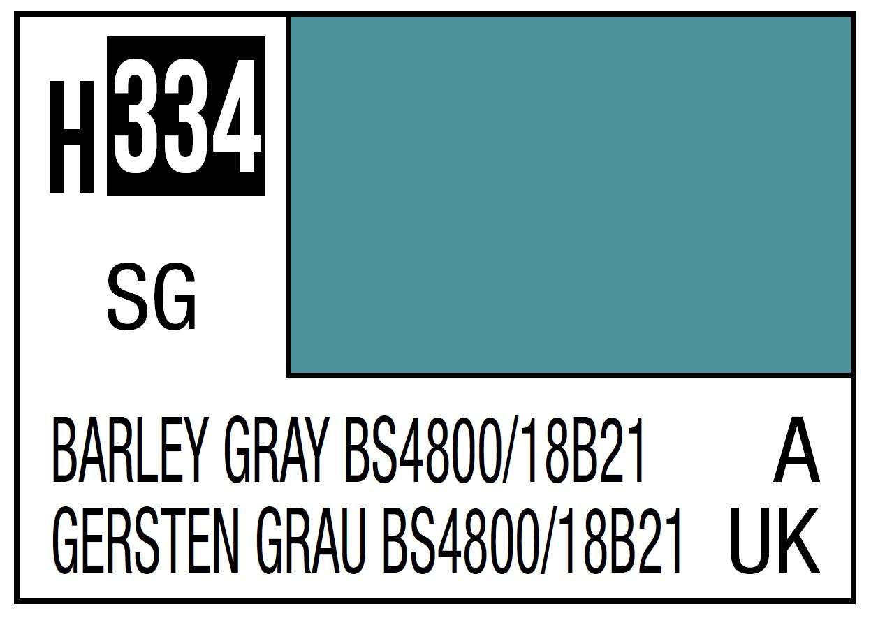 Mr Hobby Mr. Color 334 Barley Gray BS4800 18B21 (Semi-Gloss) - 10ml