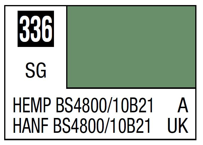 Mr Hobby Mr. Color 336 - Hemp BS4800/10B21 (Semi-Gloss/Aircraft) - 10ml