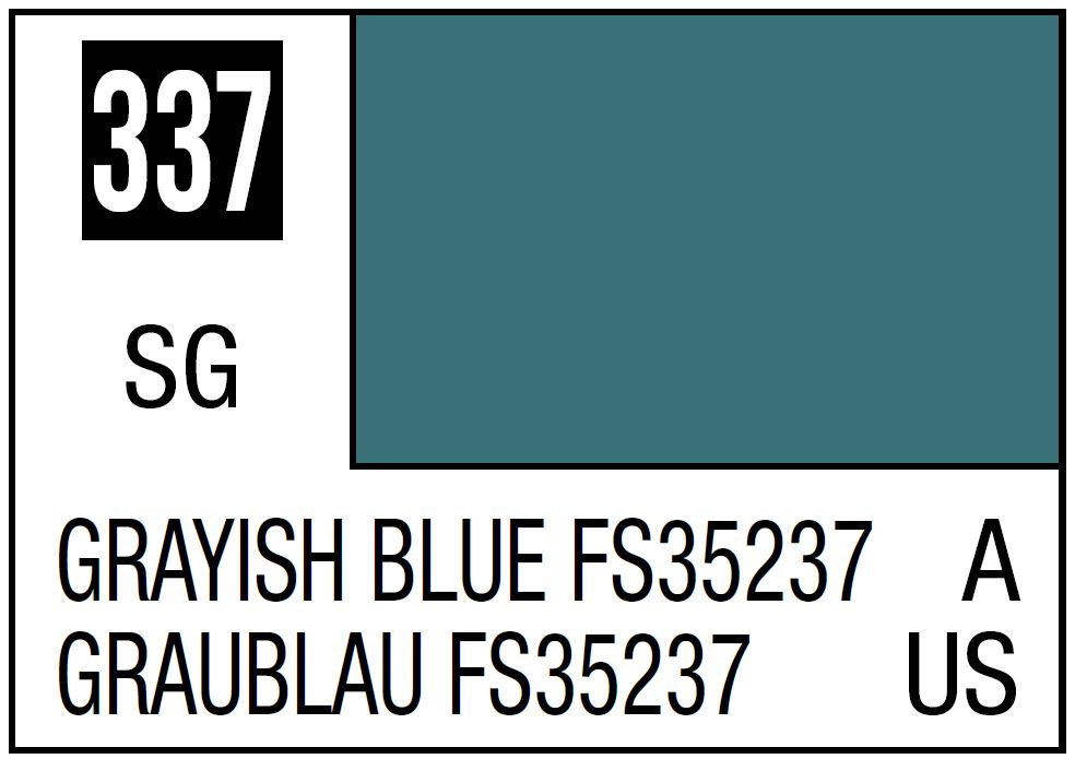 Mr Hobby Mr. Color 337 Grayish Blue FS35237 (Semi-Gloss/Aircraft) - 10ml