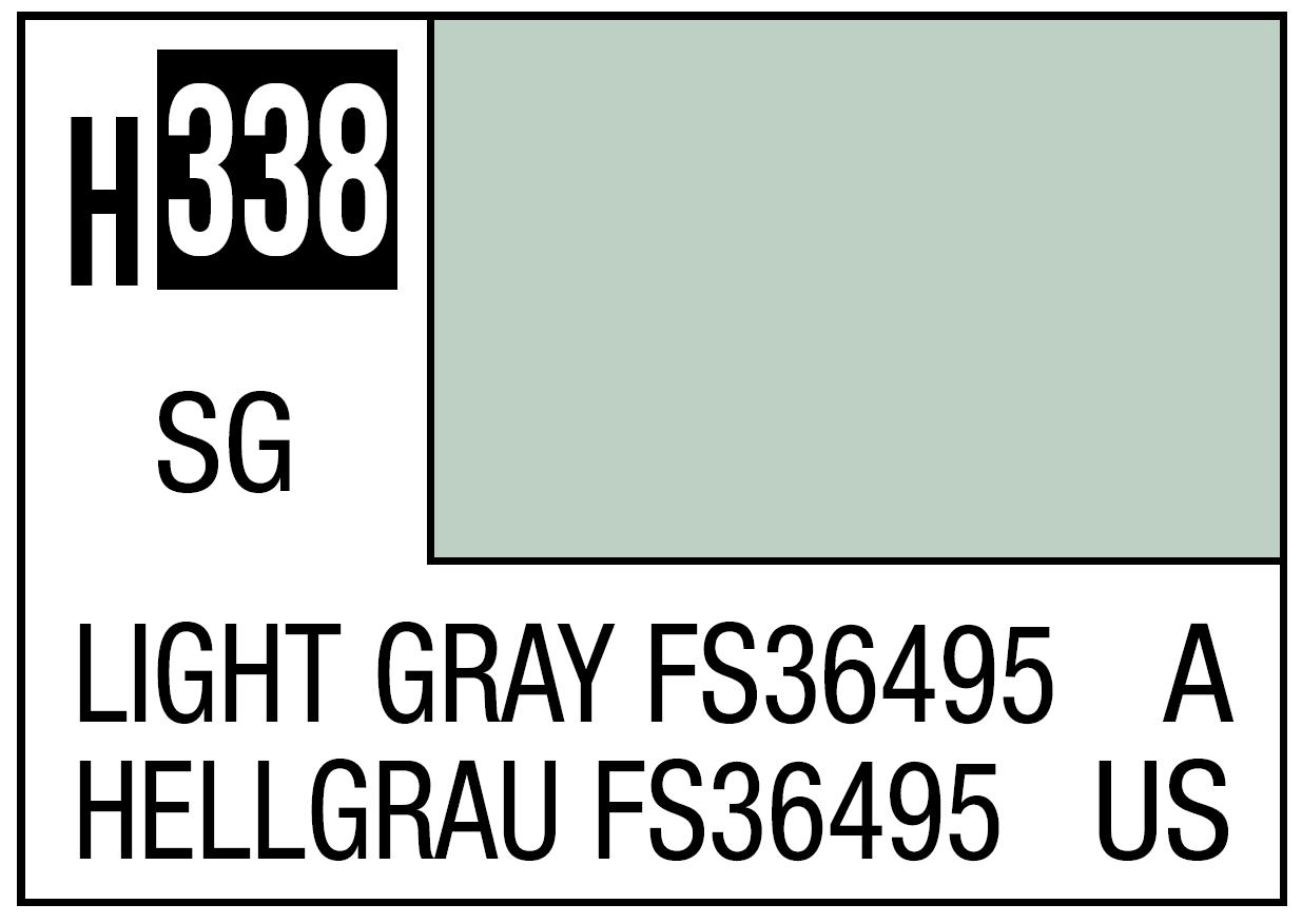 Mr Hobby Mr. Color 338 Light Gray FS36495 (Semi-Gloss) - 10ml
