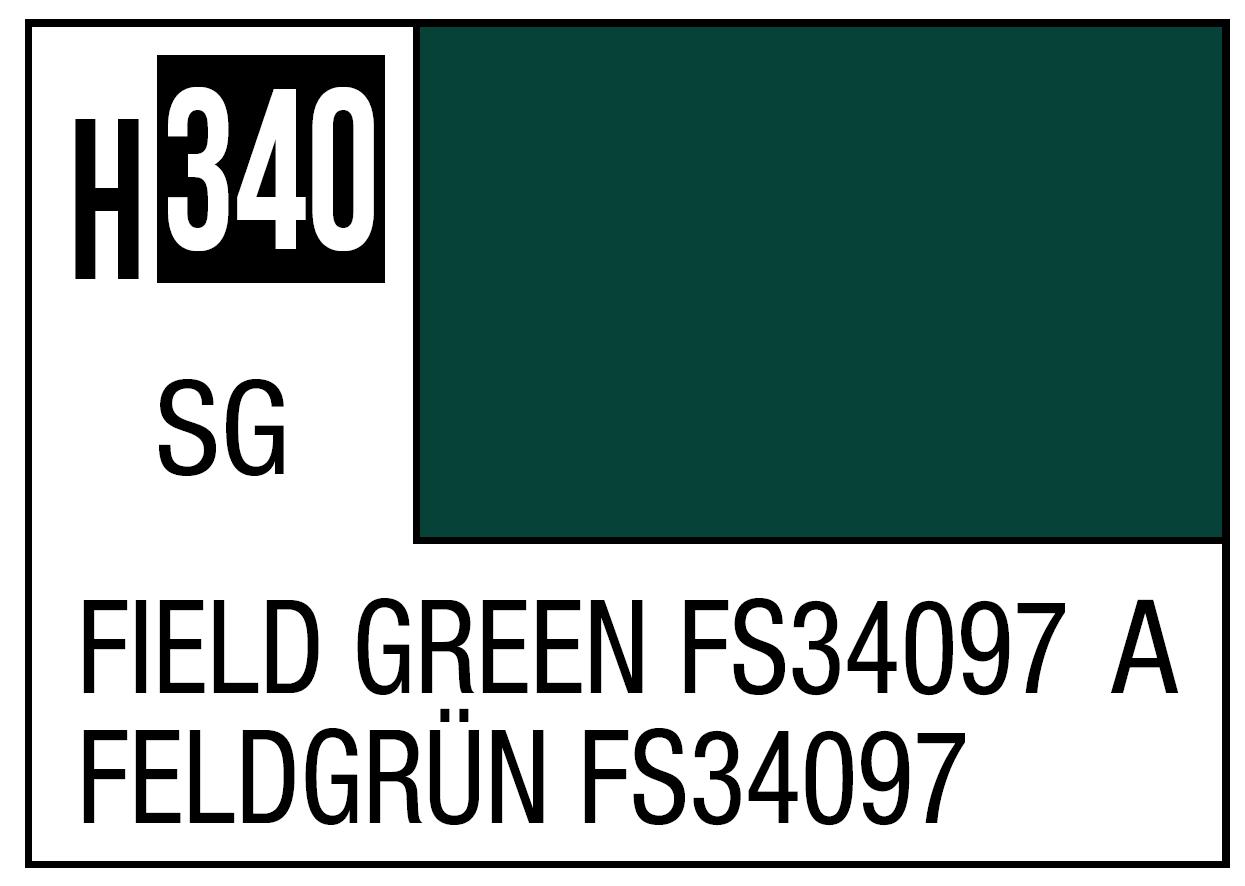Mr Hobby Mr. Color 340 Field Green FS34097 (Semi-Gloss) - 10ml